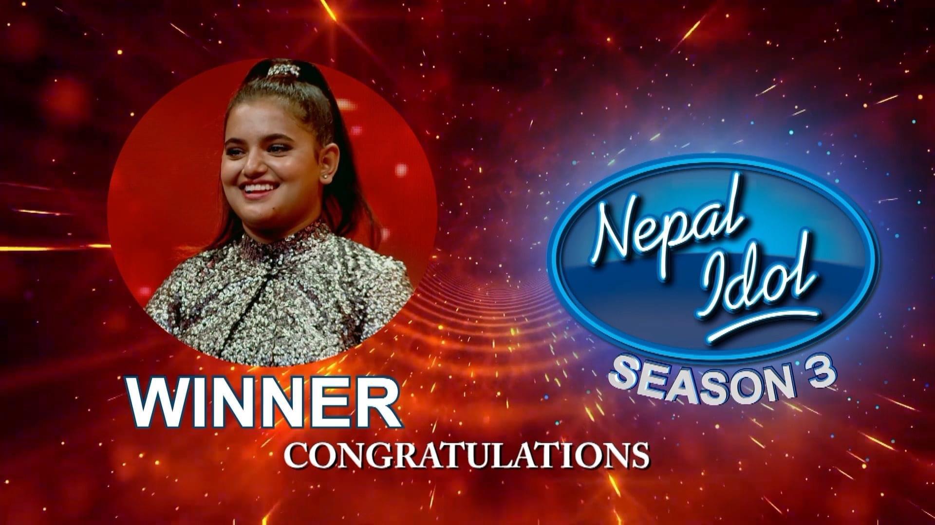 नेपाल आईडल सिजन-३ को विजेता बनिन् सज्जा
