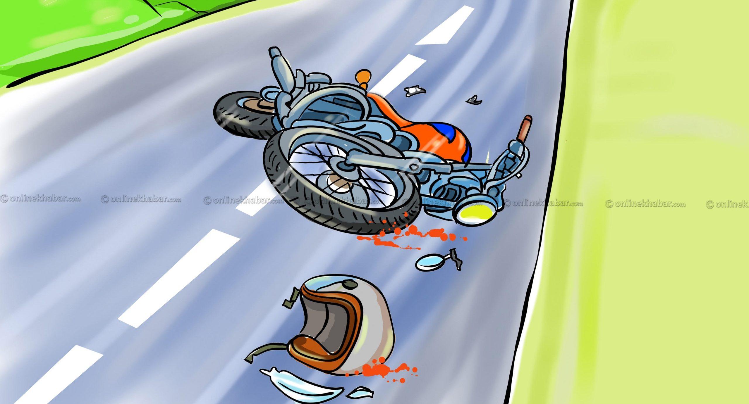 बिर्तामोडको बुट्टाबारीमा सवारी दुर्घटनामा परी एकजनाको मृ्त्यु
