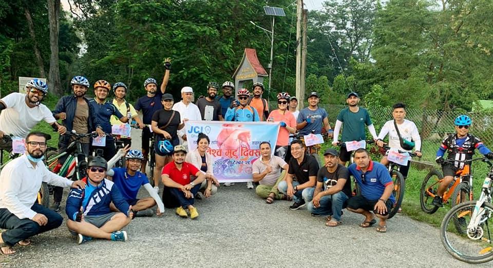 विश्व मुटु दिवसको अवसरमा साइकल यात्रा सम्पन्न